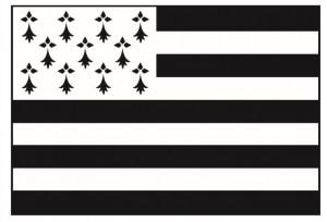 Le drapeau breton depuis la moitié du XXème siècle.